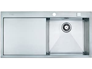 Franke flush mount inset sink Planar PPX 211 smooth stainless steel ...