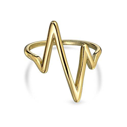 bling-jewelry-argento-925-anello-chevron-midi-fulmine-impilati-anelli-placcato-oro