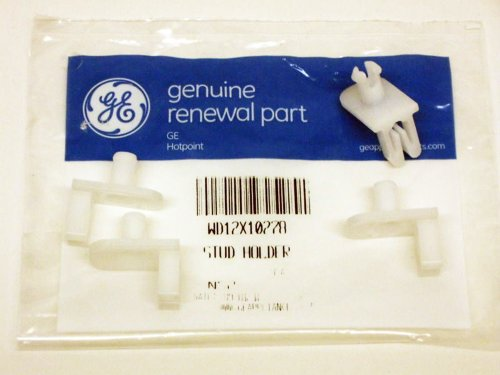 (4 Pack) Part # Wd12X10278 Genuine Factory Oem Original Dishwasher Rack Stud Axle For Roller For Ge And Hotpoint