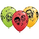 "Zombie Multicolor 11"" Round Latex Balloon 10ct"