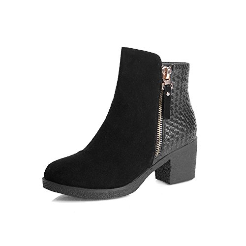 balamasa-girls-square-heels-zipper-two-toned-black-frosted-boots-25-uk