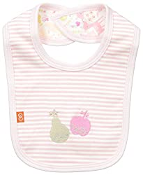 Magnificent Baby Baby-Girls Reversible Bib, Woodland Stripes, One Size