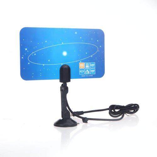 Us Plug Digital Indoor Tv Antenna Hdtv Dtv Box Hd Vhf Uhf Flat Design High Gain