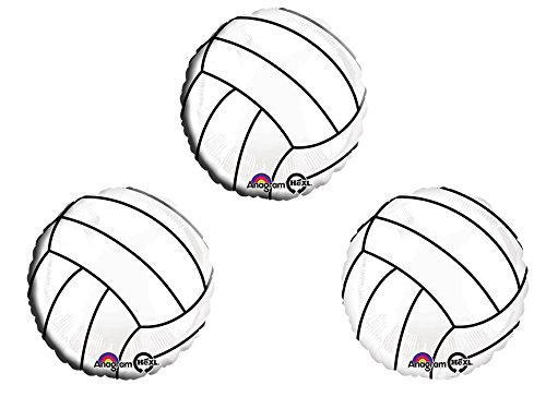 "Volleyball 18"" Mylar Balloon 3pk"