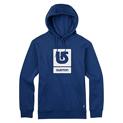 Burton Felpa Uomo con cappuccio Logo Vertical Fill, Uomo, Hoodie LOGO VERTICAL FILL, Blu - True blue, M