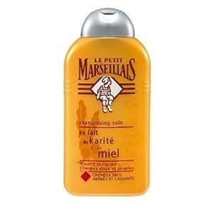 Le Petit Marseillais - Shampooing Cheveux Secs, Abîmés / Cassants Karité - Miel Flacon 250 ml - Lot de 3