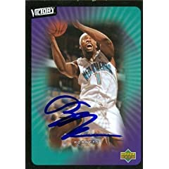 Baron Davis Autographed Hand Signed Basketball Card (New Orleans Hornets) 2003 Upper...