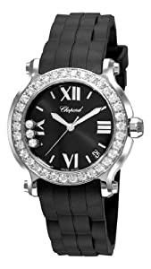 Chopard Women's 278475-3017 Happy Sport II Round Black Dial Watch by MUSIC TRADE