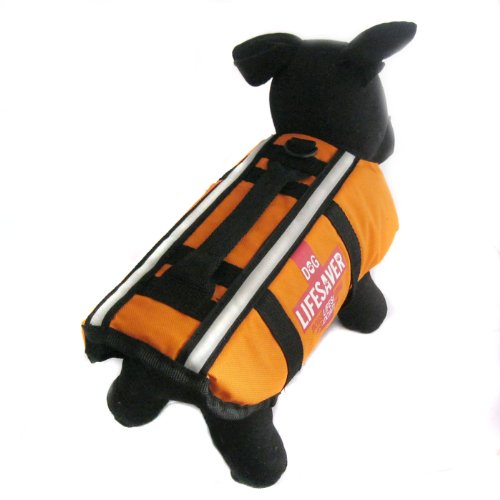 Alfie Couture Designer Pet Apparel - Alvis Pet Life Jacket - Color: Orange, Size: S front-841130