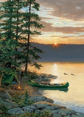 Picture of Outset Media Canoe Lake - 1000pc Jigsaw Puzzle by Cobble Hill (B004Z0PDDA) (Jigsaw Puzzles)