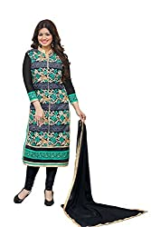 Adorn Mania Multi Heavy Georgette Embroidered salwar Suits Dress Material