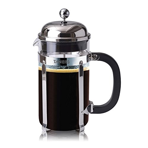 TANERS-8-cup-French-Press-Coffee-Maker-Tea-Maker-1-Liter-34oz-BONUS-Extra-Dual-Layer-Filter-Scoop-Elegant-Gift-Box