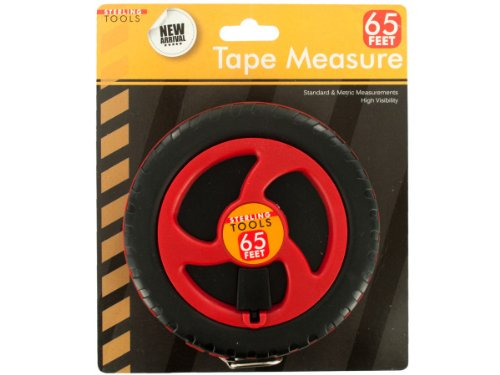 sterling OC573 Tape Measure, 65-Feet, Black/Red/Silver - 1