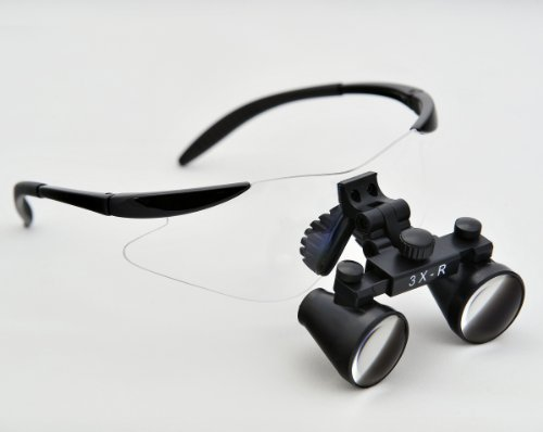 Cm250 2.5X Binocular Dental Loupes Surgical Loupes Black Colour Tp Sport Frame