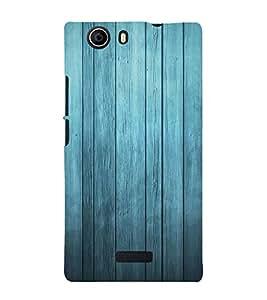 Blue Wood Background Cute Fashion 3D Hard Polycarbonate Designer Back Case Cover for Micromax Canvas Nitro 2 E311