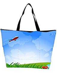 Snoogg An Airplane In The Sky Vecto Waterproof Bag Made Of High Strength Nylon