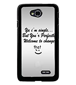 PrintDhaba Quote D-4895 Back Case Cover for LG L70 (Multi-Coloured)