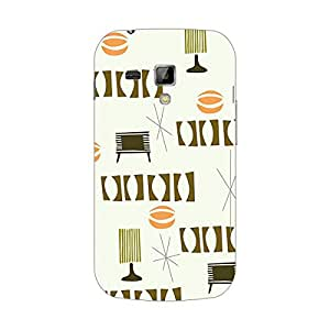 Garmor Designer Silicone Back Cover For Samsung Galaxy S Duos S7562