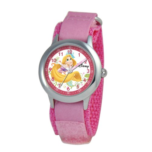 Disney Kids' W000052 Multi-Princess Stainless Steel Time Teacher Watch