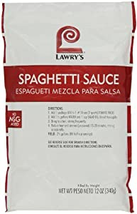 Lawrys Spaghetti Sauce Mix, 12-Ounce Packages (Pack of 3)