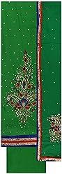 Gunjan Women's Cotton Silk Unstitched Salwar Suit (Green )