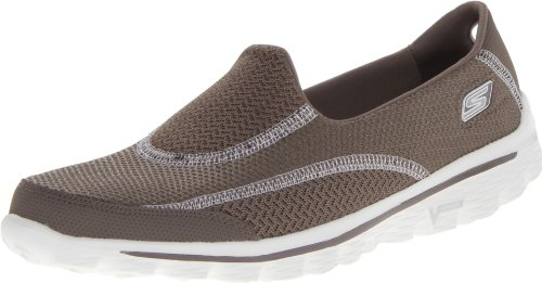 Skechers Performance Women's Go Walk 2 Spark Walking Shoe,Taupe,8 M US (Skechers Go Walk Super Sock compare prices)