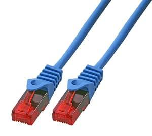 BIGtec 1m CAT.5e Ethernet LAN Patchkabel Gigabit Netzwerkkabel Patch Kabel blau (RJ45, Cat 5e, Twisted Pair UTP, 1000 Mbit/s) 2 x RJ45 Stecker ideal für Switch , DSL Verbindungen , Patchfelder , Patchpanel , Router , Modem , Access Point und andere Geräte mit RJ45 Anschluß ,CAT Kabel KAT Kabel CAT5e