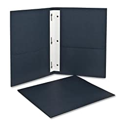 Oxford Twin Pocket Folders with Fasteners, Letter Size, Dark Blue, 25 per Box (57738)