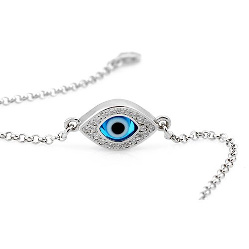 Celebrity Evil Eye Bracelet  Diamond Simulated