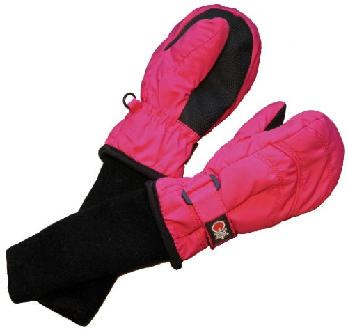 SnowStoppers Kid's Waterproof Stay On Winter Nylon Mittens Small / 1-3 Years Fuschia