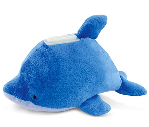 Puzzled Plush Dolphin Huggie Bank