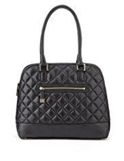M&S Collection Leather Quilted Curve Tote Bag