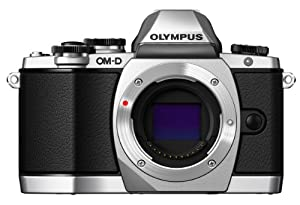 Olympus OM-D E-M10 Compact System Camera (Silver)- Body only
