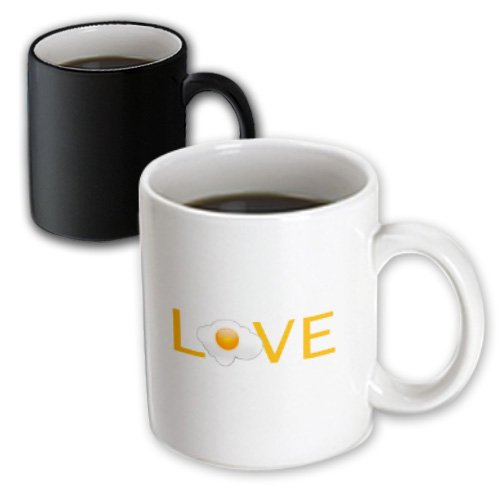 Mug_180475_3 Inspirationzstore Love Series - Love Eggs - Text With Sunny Side Up Fried Egg For O Fun Breakfast Food - Mugs - 11Oz Magic Transforming Mug