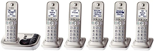 Panasonic KX-TGD223N + 3 KX-TGDA20N Handsets (6 Handsets Total) DECT 6.0 Plus Cordless Phone System (KX-TGD225N + 1, KX-TGD224N + 2, KX-TGD222N + 4, KX-TGD220N + 5) (Certified Refurbished) (Panasonic Dect 6 Plus compare prices)