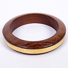 buy Wood Bangle - Ring Of Gold