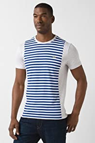 Short Sleeve Jersey Enginered Stripe T-Shirt