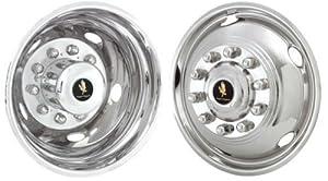 "19.5"" Stainless Steel Wheel Simulators for 2005-2012 Ford F450 & F550 10 Lug Dual Wheel"
