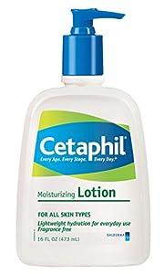 Cetaphil Fragrance Free Moisturizing Lotion, 16-Ounce Bottles (Pack of 2)