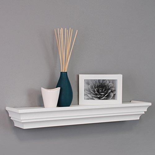 nexxt Madison Contoured Wall Ledge & Shelf, 24-Inch, White
