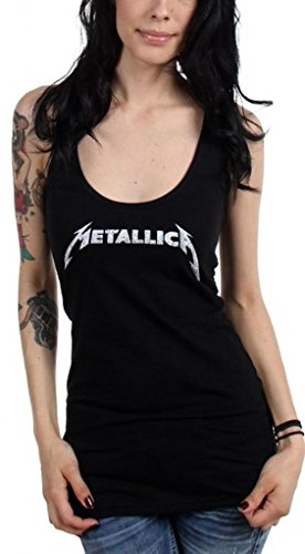 Metallica Logo racer back Tank Top T-shirt da donna nero Small