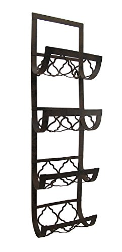 Deco 79 Metal Wall Wine Rack 28 By 8 Inch New Ebay