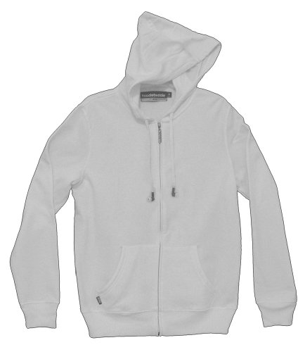 White Headphones Ear Buds Zip Hoodie Hooded Sweatshirt