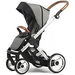 Mutsy Evo Urban Nomad Stroller, Silver Chassis, Light Grey