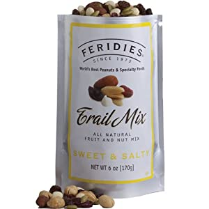 6oz Silver Bag Sweet & Salty Trail Mix by FERIDIES