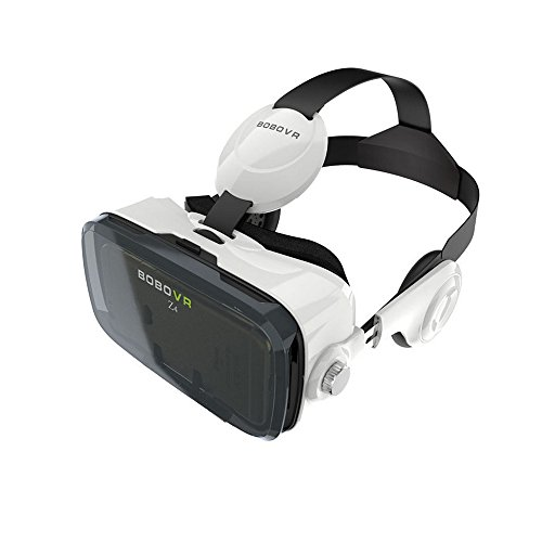 3D VR Glasses Headset Simpper Z4 Virtual Reality Headset 3D Glasses Box 120 Degree Viewing Angle with Headphone Compatible with 4.0-6.0 Inches Smartphones iPhone5 6s Plus, Samsung S5 S6 Edge, LG G3 G4