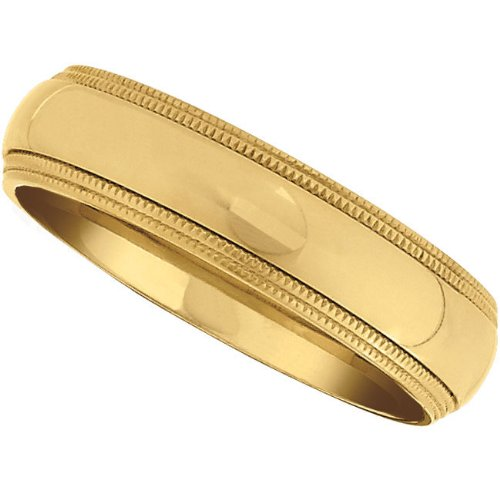 Titanium, Double Millgrain Gold Immersion Plated Wedding Band (sz 7.5)