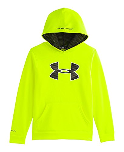Under Armour Big Boys' Ua Storm Armour® Fleece Big Logo Hoodie Youth Large High-Vis Yellow front-906456