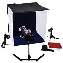Neewer Table Top Photography Studio Lighting Light Tent Kit, includes (1) 24\