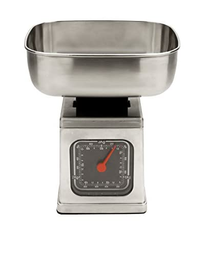 MIU France Brushed Stainless Steel Analog 6-Pound Kitchen Scale